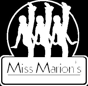 Miss Marion's white logo